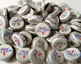 100 Michelob Ultra Recycled Beer Bottle Caps