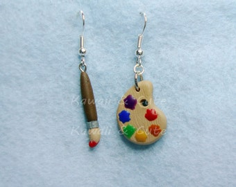 Earrings Paintbrush and Palette - Painter