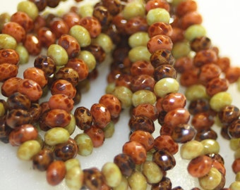 Czech Glass 3x5 Rondells 30 Beads