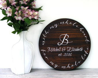 "Personalized Wedding Gift - 15"" - Anniversary Gift - Unique Wedding Gift - Wedding Shower Gift - Gift For Bride - Engagement Gift"