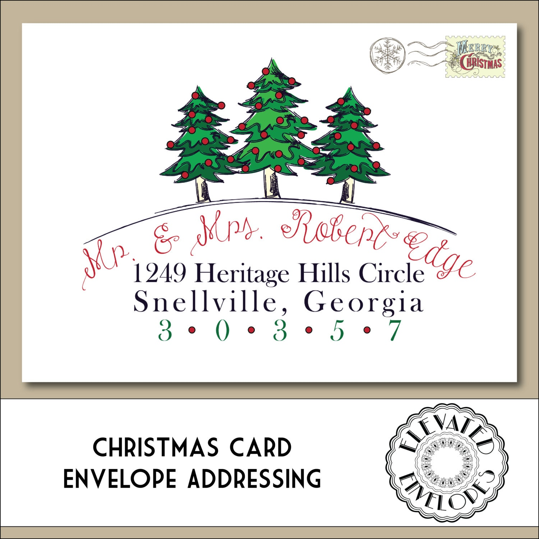CHRISTMAS ENVELOPE ADDRESSING Printable By ElevatedEnvelopes