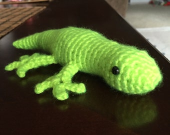 Crochet Gecko, Neon Green Gecko, Amigurumi Gecko, Crochet Reptile, Reptile, Gecko, Gecko Plushie,  Perfect Gift