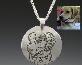 Pet Memorial Jewelry- Custom Photo necklace - Personalized Pet Pendant