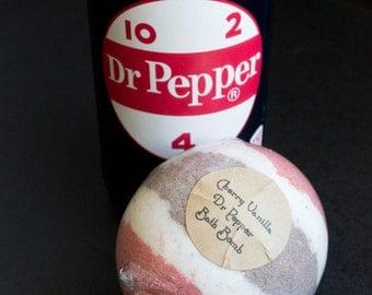 Cherry Vanilla Dr. Pepper Bubbling Bath Bomb