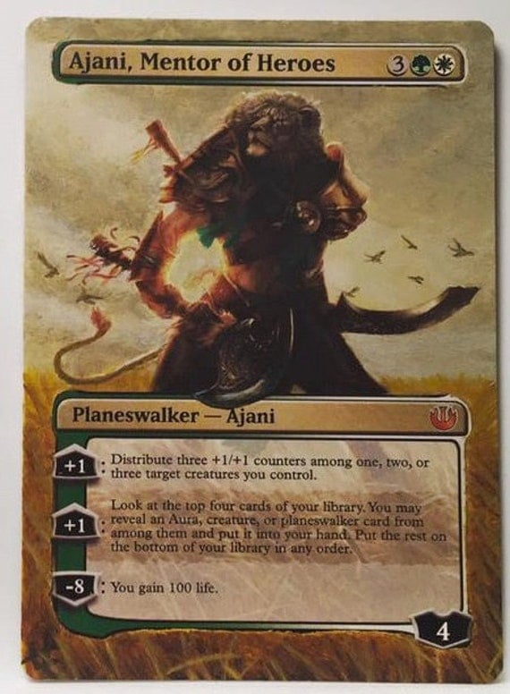 Ajani Mentor of Heroes MTG Extended Border Alter