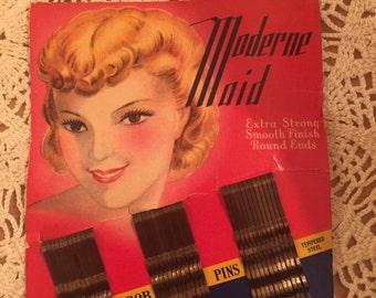 Sample Set of 1930's Bob Pins on Original Cardboard Backing