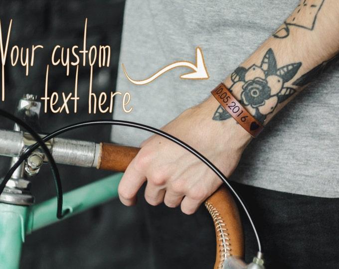 Date bracelet - save the date band - friendship bracelet - custom date - engraved bracelet - special date - wedding date - engagement gift