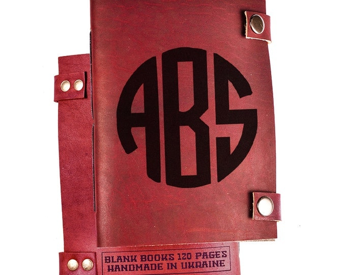 Custom monogram journal - monogram notebook - custom initials journal - initials notebook - personalized monogram journal - journal diary