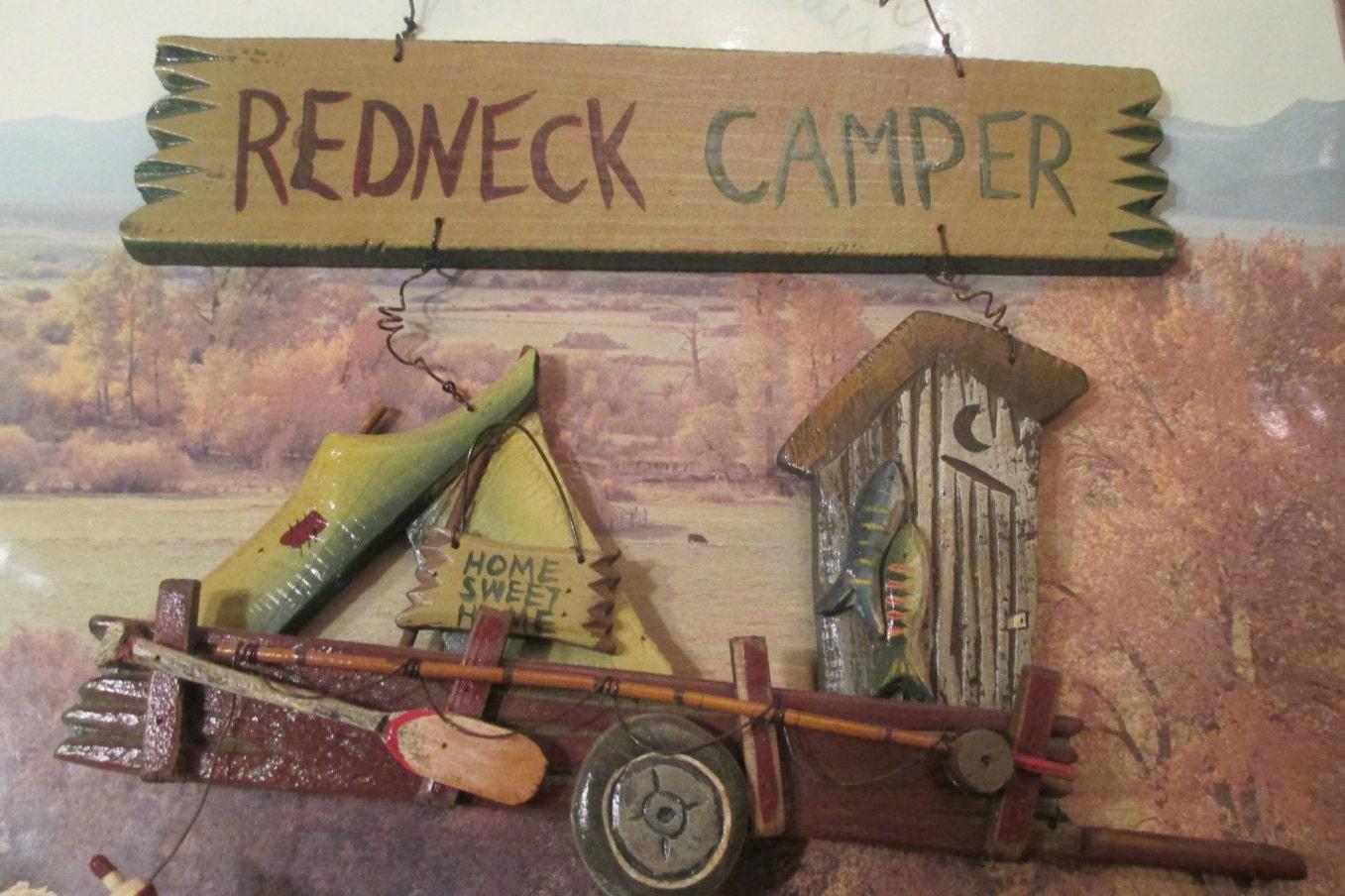 Redneck Man Cave Decor : Redneck camper w wire hanger wooden sign rustic