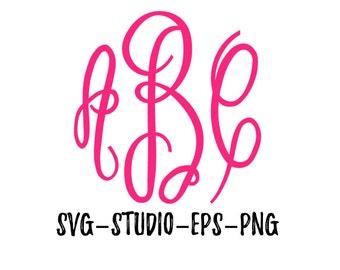Fancy Monogram Font SVG, Fancy Monogram, Master Circle Font, SVG Files, SVG Fonts, Cricut Fonts, Silhouette Fonts, Png, Eps