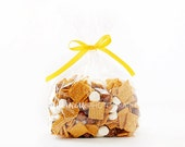 Bag of SMores Cereal Styled Photo, Styled Stock Photography, Party Styled Mockup, Cereal Styled Photo, Yellow Ribbon, Cereal Bag Display, 33