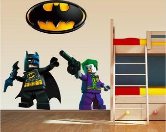 Lego Wall Decal Etsy - Girl superhero wall decals