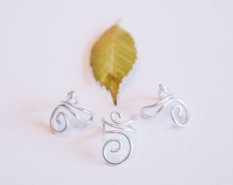 Silver Spiral Ear Cuff