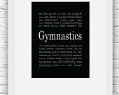 Gymnastics Words Wall Art...