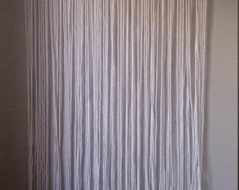 Free shipping!!!!! PROMO PRICE !!! Woven cotton curtain Macramé.Curtain modern white cotton Macramé. Zen curtain. Macrame curtains