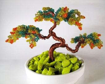 Handmade copper bonsai wire tree