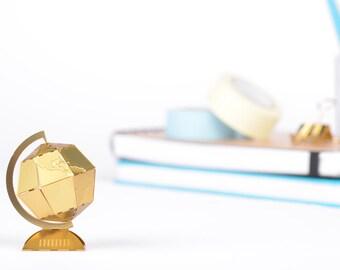 Miniature world globe, brass model kit