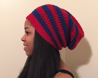 Satin Lined Oversized Beanie Hat - Available in collegiate colors as well as Greek colors.