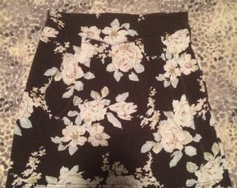 Floral Mini Skirt with Pockets