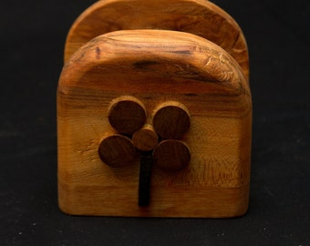 Wooden Napkin Holder - Expertly MADE by Hand