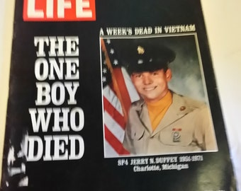Life Magazine January 21, 1972 - The One Boy Who Died.