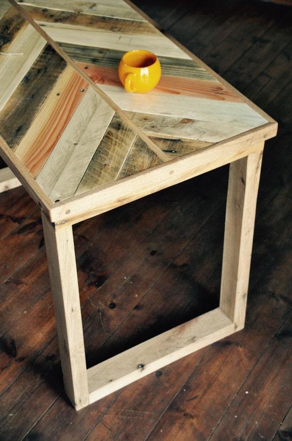 Reclaimed wood Desk Rustic Industrial Pallet Oak Table Pallet Office ...