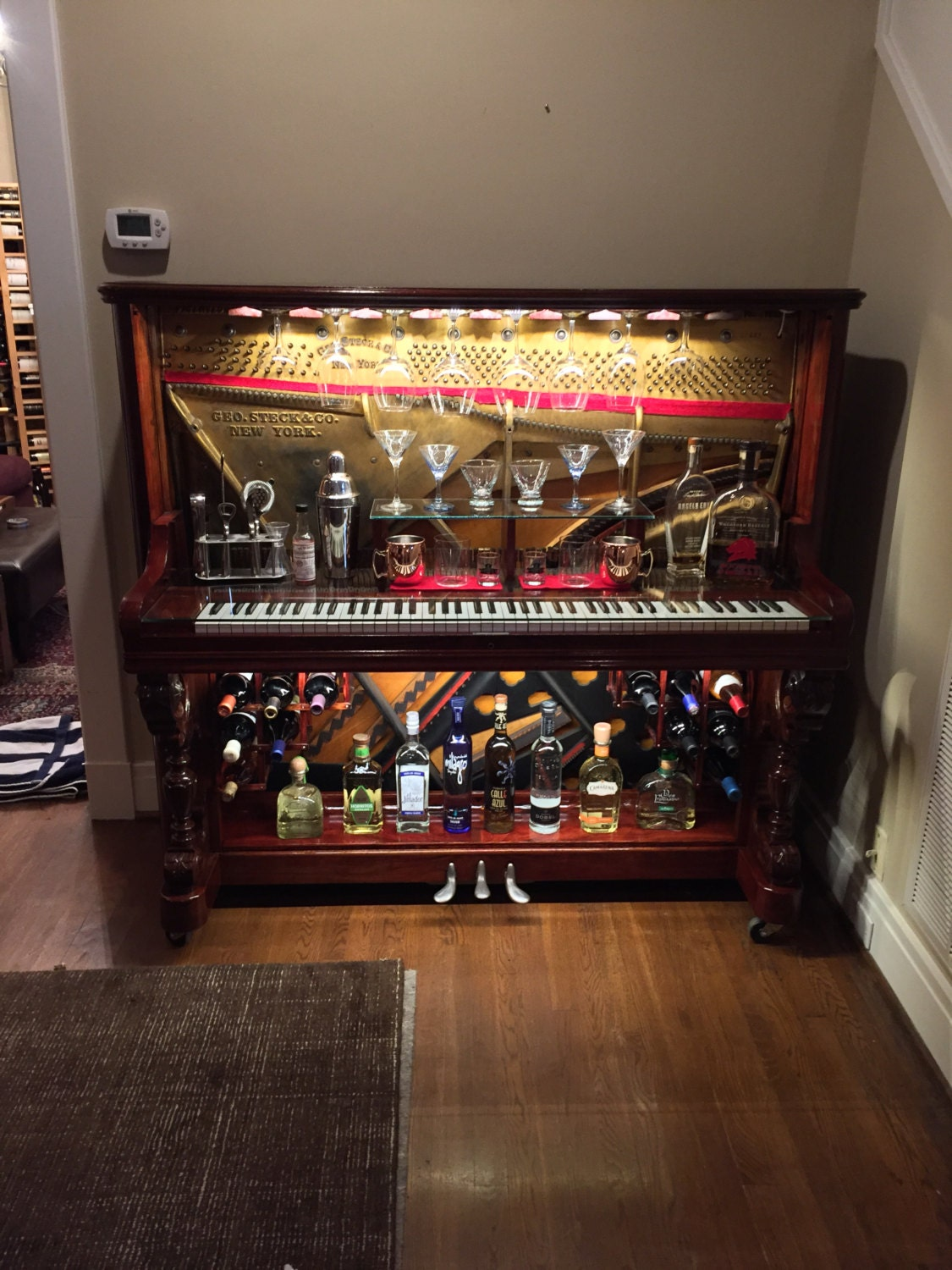 piano bar re purposed upright piano. Black Bedroom Furniture Sets. Home Design Ideas