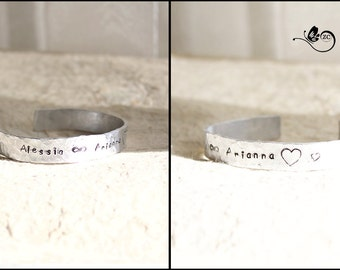 Personalized Bracelet with name-aluminum/bangle/girlfriends/friends bracelet