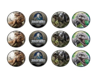 Jurassic World Party theme  CUPCAKE TOPPER/tag for kids birthday Party cake decoration PRINTABLE Instant Download and other decoration ideas