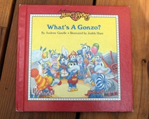 What's A Gonzo?/Jim Henson's Muppet Babies/Andrew Gutelle, Judith Hunt/Vintage Hardcover Children's book/Weekly Reader/Muppet Press/Fozzie