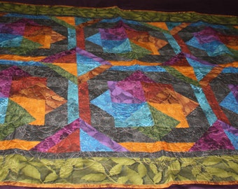 Colorful Shadowlands Custom Made Quilt
