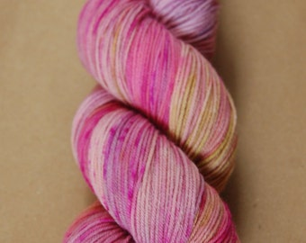 SALE - Hand Dyed Speckled Sock Yarn Superwash Merino Nylon: Petals and Leaves