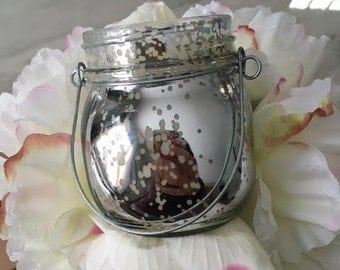 8oz Mercury Glass lantern, 100% Soy candle--- your choice of fragrance