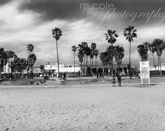 Venice Beach California Black and White Photography