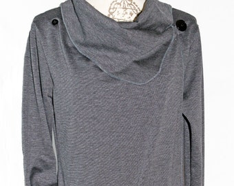 Charcoal Wrap Sweater