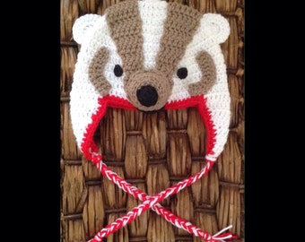 Crochet Wisconsin Badgers Hat