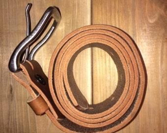 Medium Brown Genuine Leather Belt -Made in Canada