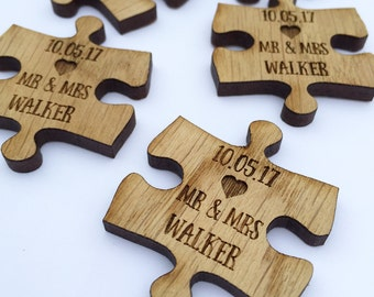Custom Wedding Favors - Puzzle Favors - Puzzle Piece Favors - Puzzle Decor - Puzzle Decorations - Puzzle Pieces - Wedding Table 11TD