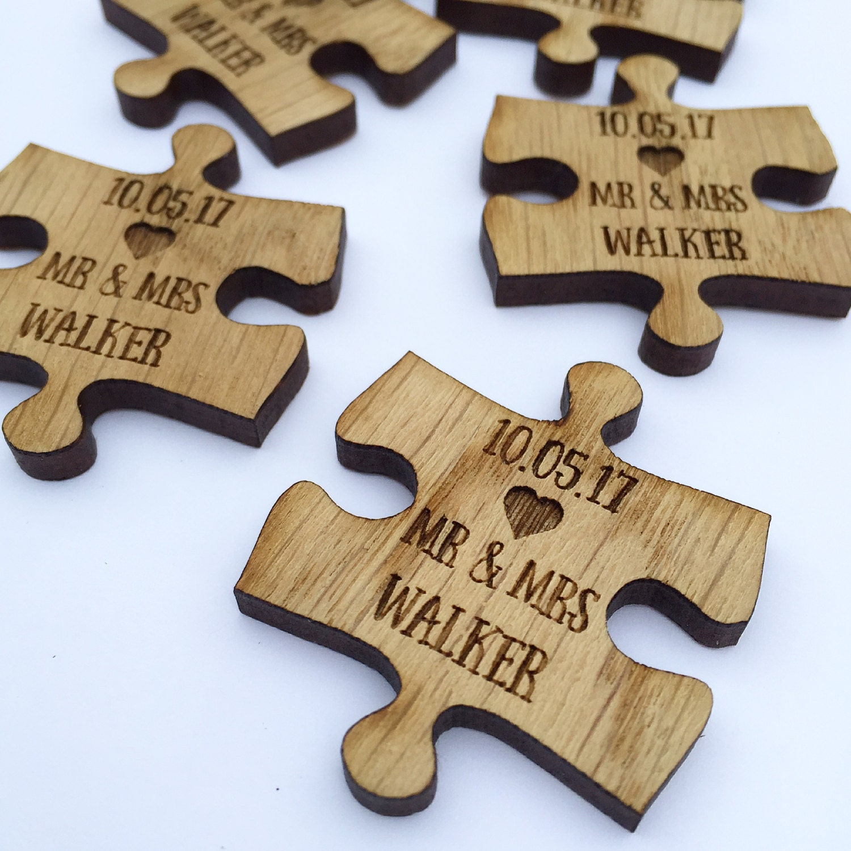 Custom Wedding Favors Puzzle Favors Puzzle Piece Favors