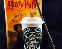 "Harry Potter inspired ""Dumbledore's Army"" Starbucks Travel Cup"
