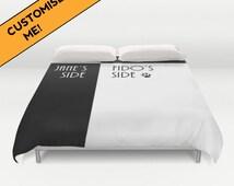 personalisierte bettw sche meine seite seine seite geschenk f r. Black Bedroom Furniture Sets. Home Design Ideas