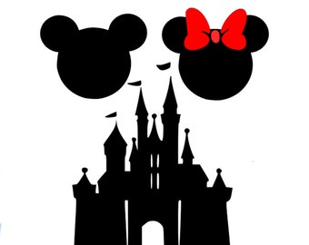 Disney Mouse Ears SVG Mickey Minnie SVG Dxf Eps Png Studio3 Silhouette Studio and Cricut Design Space cutting machines. Instant   Download.