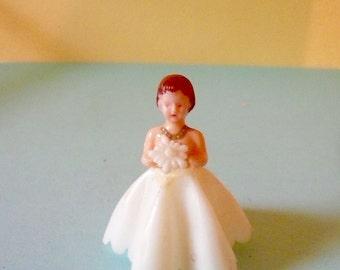 Vintage Bride Plastic Bride Cake Topper Wedding Bride Miniature Bride