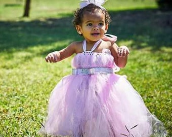 tuttu dress, Easter, 1st. birthday, pink tulle, party dress, Flower girl, birthday, special occasion