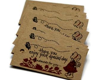 Handmade For You Tag. Kraft Tag. Hang Tag. Gift Tag. Bake Tag. Party Favor Tag. Wedding Favor Tag. 30 Pieces.