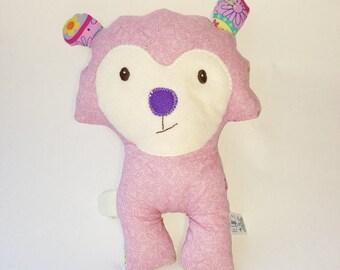 Purple nose Lamby plushie / softie / baby toy - ovejita rag purple nose