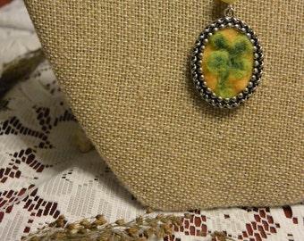 Felted 4-leaf Clover Necklace