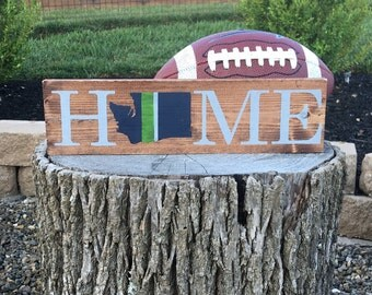 Seattle Seahawks Home wood sign