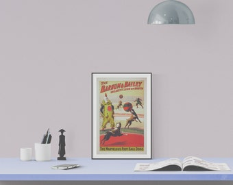 "Instant Downloadable Vintage Circus Poster ""The Barnum & Bailey Greatest Show on Earth"" from 1900"