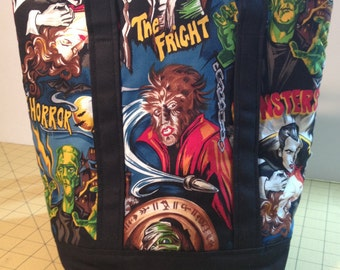 Vintage Monster Movie Insulated Lunch bag